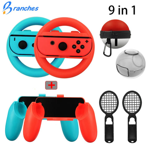 9 in 1 Controller Grips Joy-Con Case For Nintend Switch Joy Con