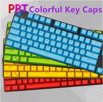61/87/104 PBT Colorful Mechanical Keyboard Key Caps Translucent Keycap
