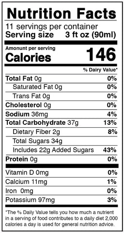 nutrition facts mango