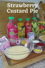 Load and play video in Gallery viewer, strawberry custard pie