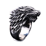 Bague Loup Game of Thrones fond blanc