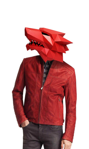 Masque Loup <br>Origami