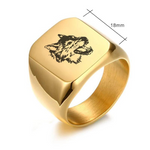 Bague Loup <br>Chevaliere Loup