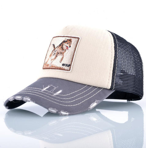 Casquette Homme Loup  Beige Woff