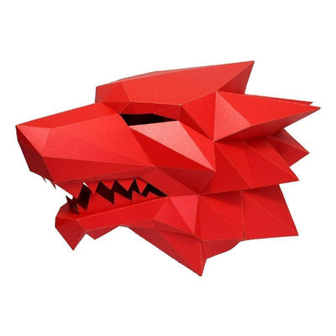 Masque Loup Origami