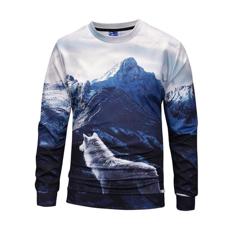Pull Loup Montagne