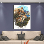 Tableau Loup <br> Toile Loup