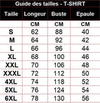 Taille des tee shirt