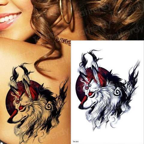 Tatouage Loup Alpha  TH341