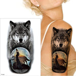 Tatouage Loup Arbre  TH356