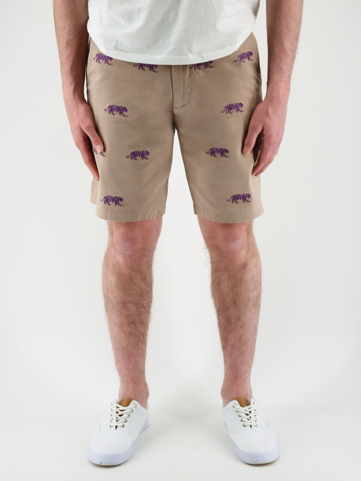LSU Tiger Khaki Shorts