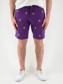 ECU Skull & Bones Purple Shorts