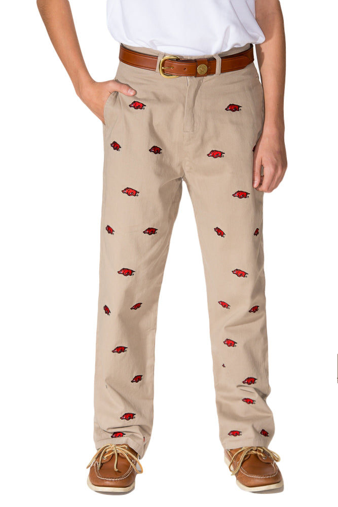 Arkansas Boy's Khaki Pant