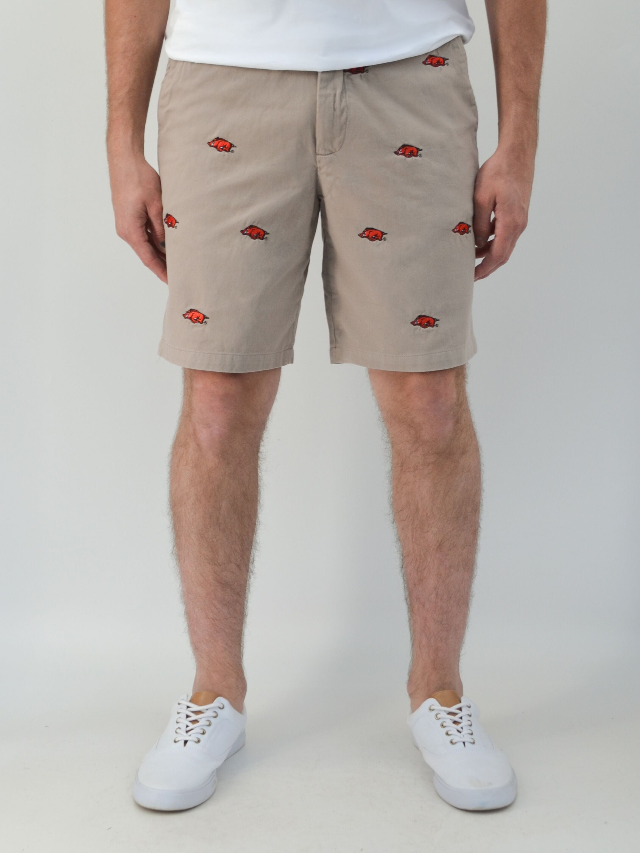 Arkansas Razorback Khaki Shorts