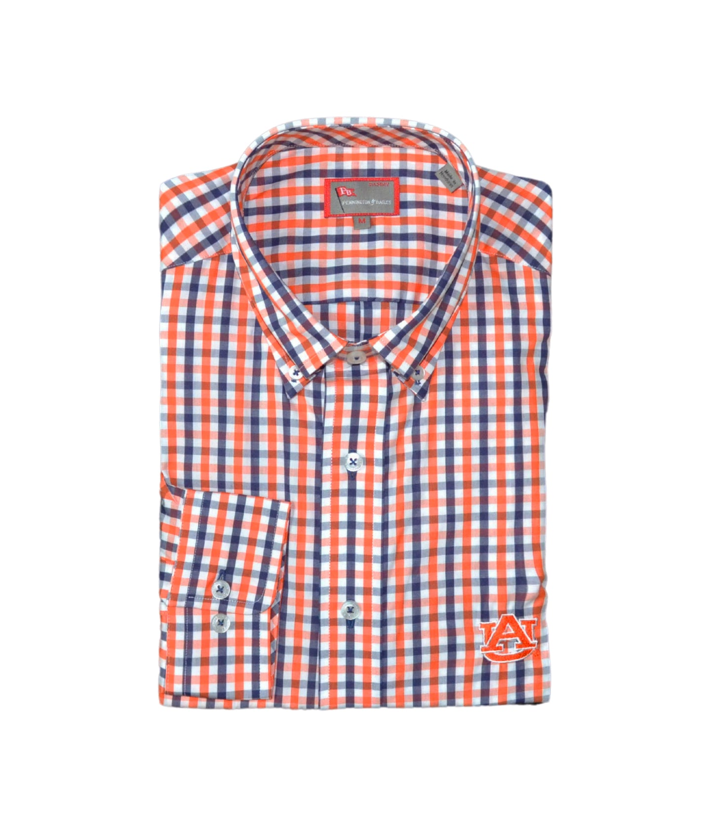 Auburn Men's Gingham Shirt
