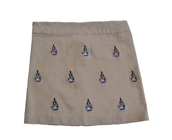 Citadel Girl's Khaki Stadium Skirt