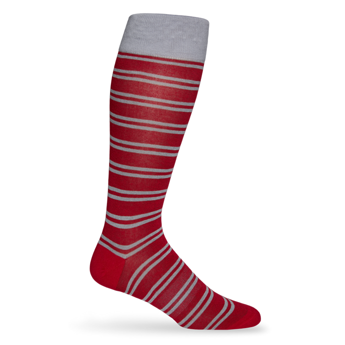 Crimson Double Stripe Sock