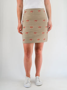 Virginia Tech Khaki Skirt