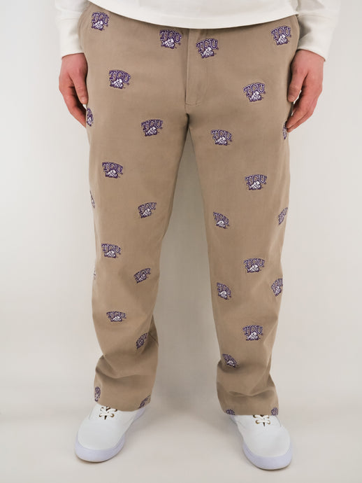 TCU Horned Frog Khaki Pants