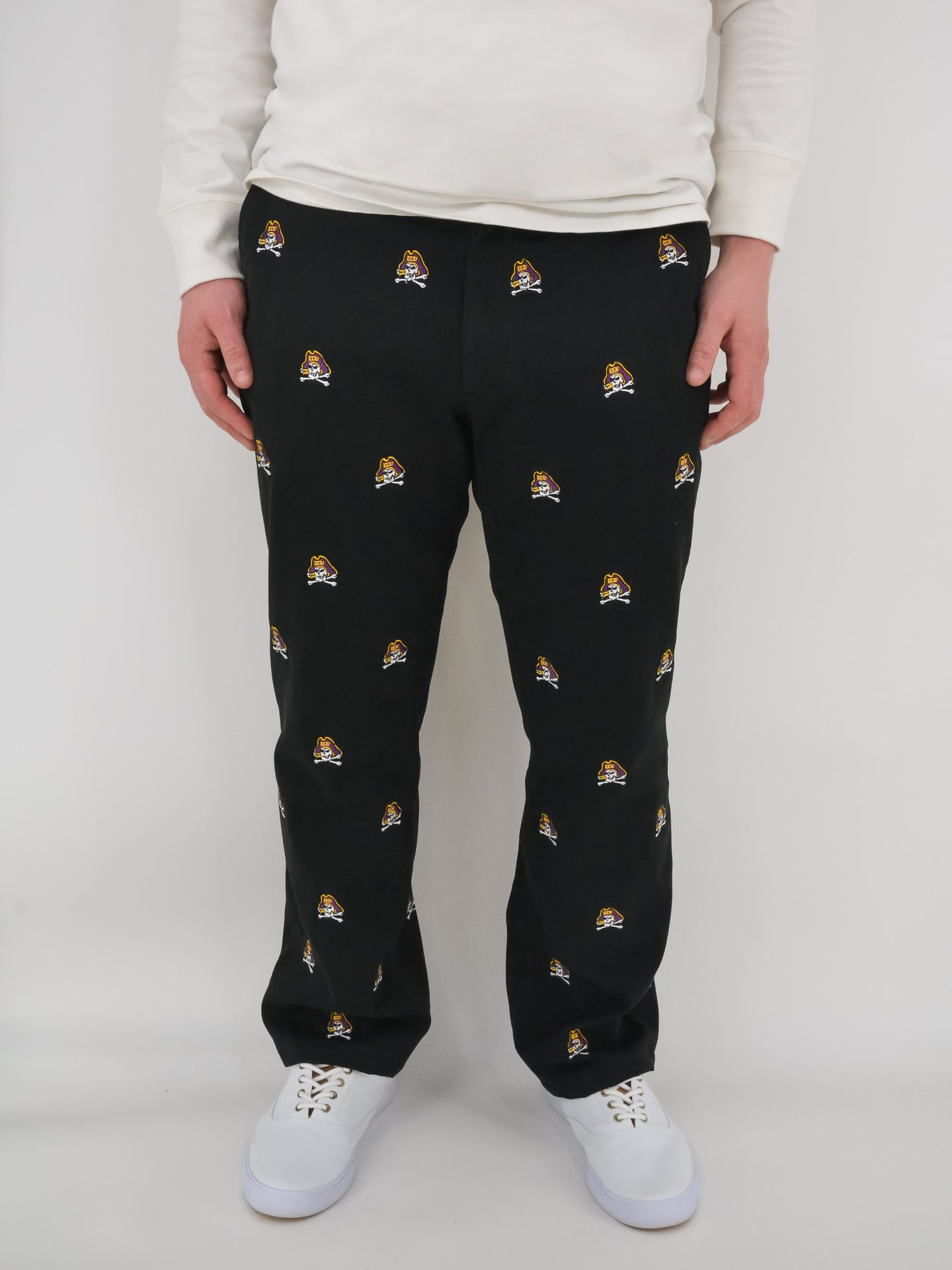 ECU Skull & Bones Black Pants