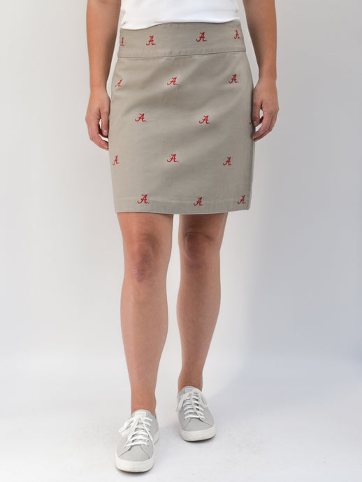 Alabama Khaki Skirt