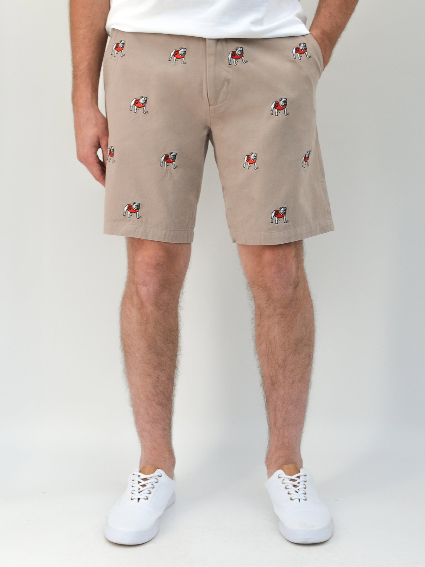 Georgia Bulldogs Khaki Shorts
