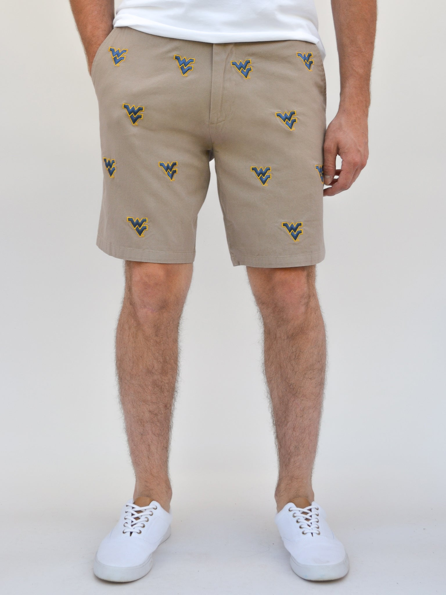 West Virginia Khaki Shorts