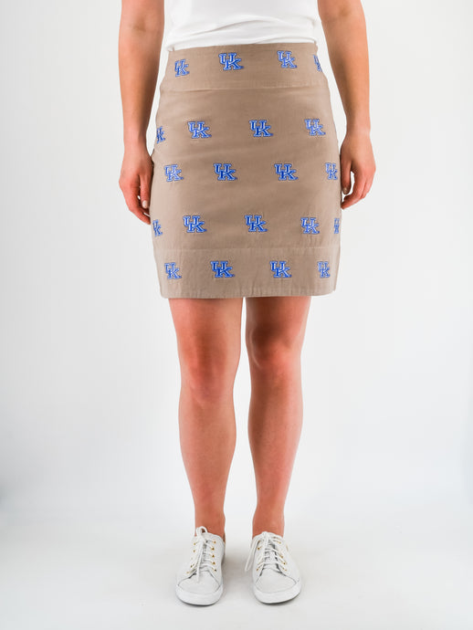 Kentucky Khaki Skirt