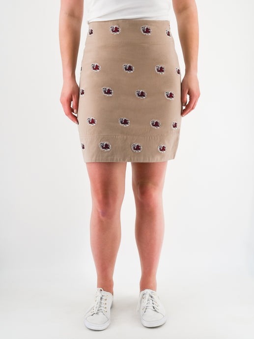 South Carolina Gamecock Khaki Skirt