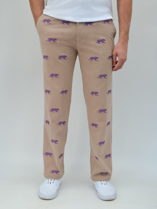 LSU Tiger Khaki Pants