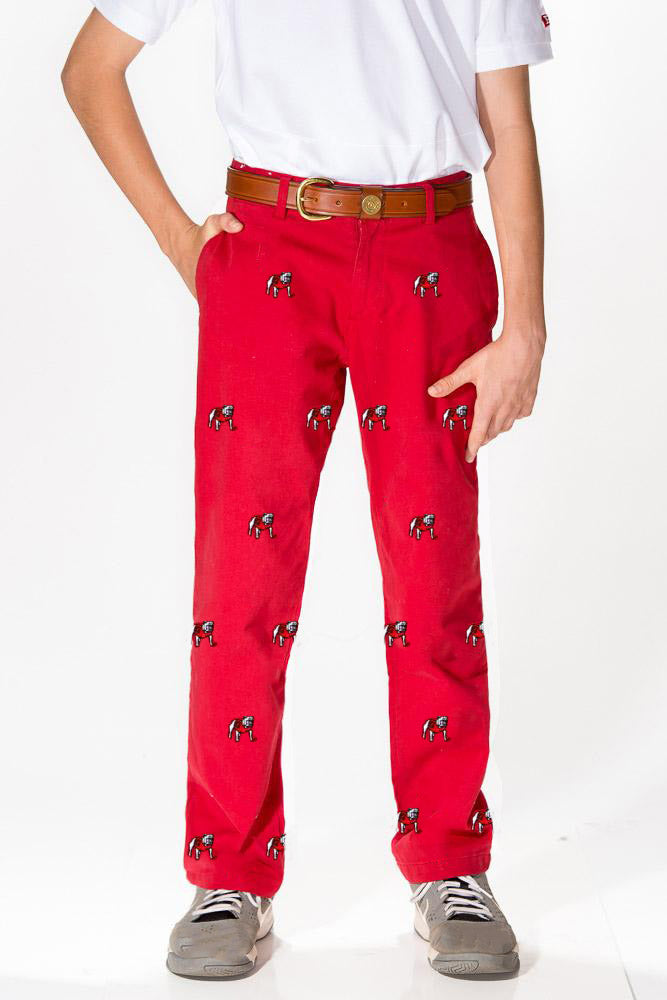 Georgia Boy's Red Pant