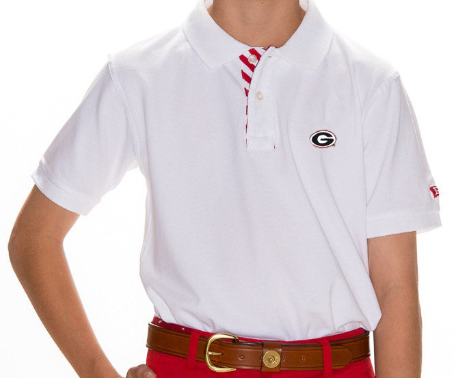Georgia Boy's White  Polo