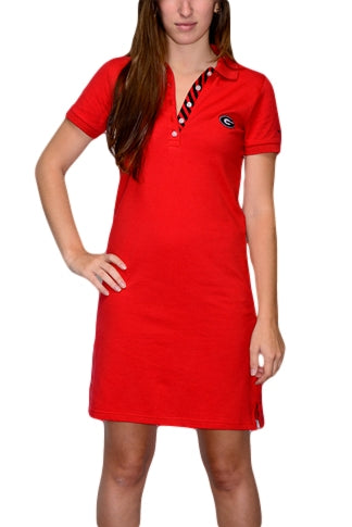 Georgia Women's Red Polo Dress