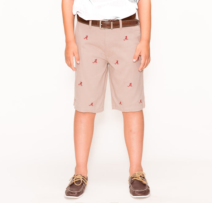 Alabama Khaki Boy's Short