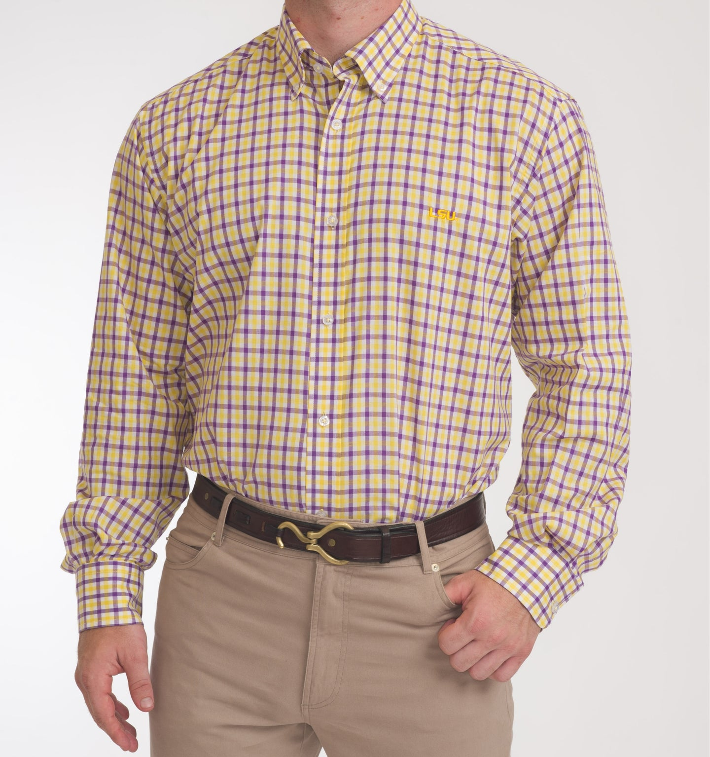 LSU Purple and Gold Gingham