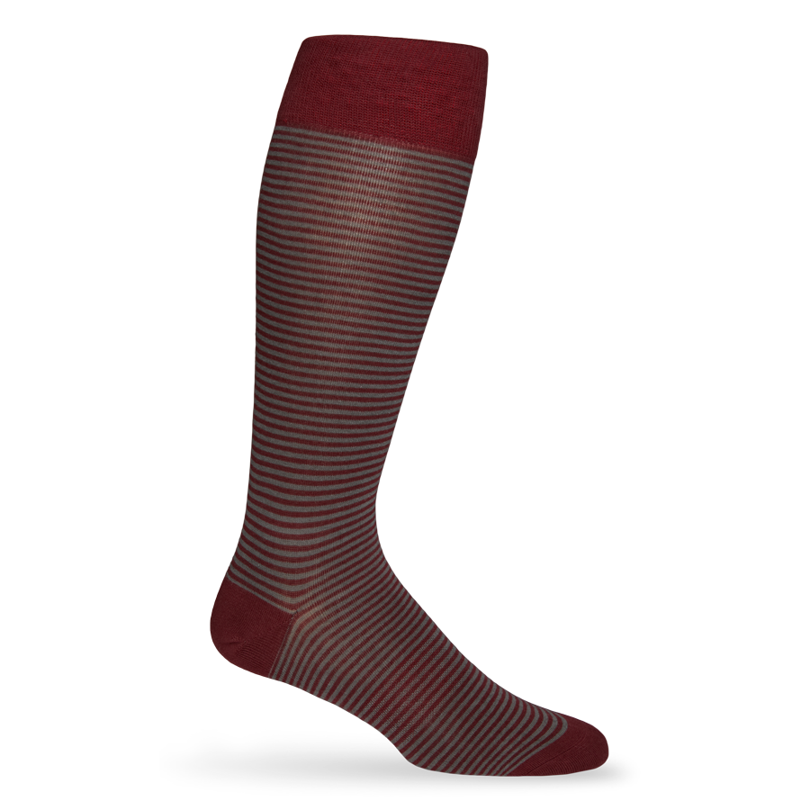 Maroon Mini Stripe Sock
