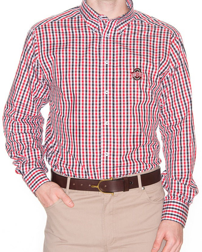 Ohio State Men's Gingham