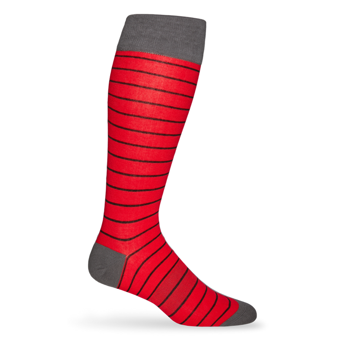 Red and Black Wide Stripe Sock