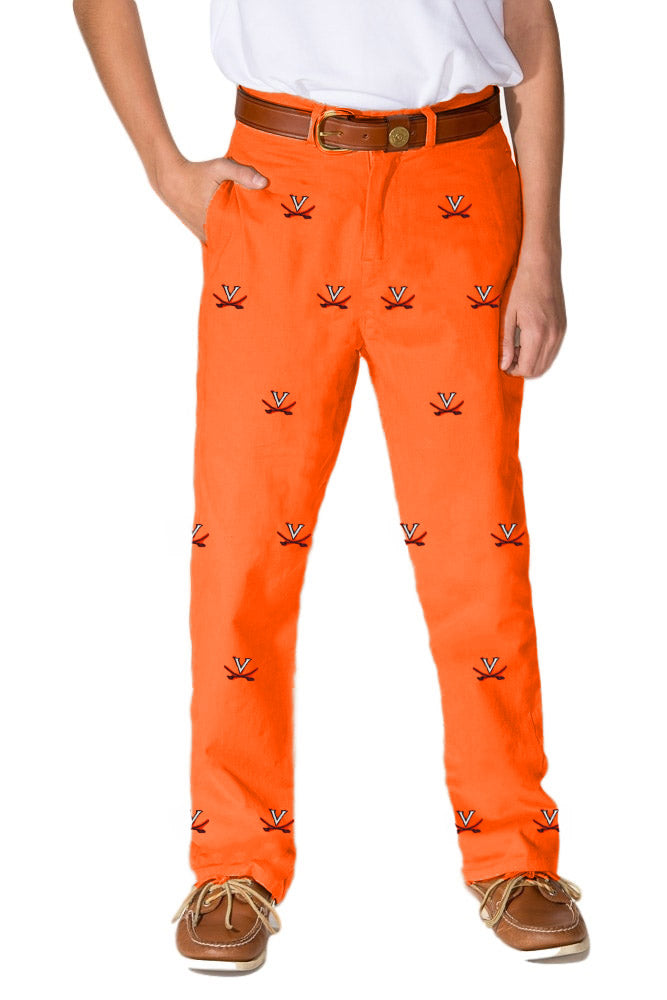Virginia Boys Orange Pant