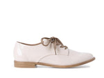 Tamaris Low Patent Brogue Cream