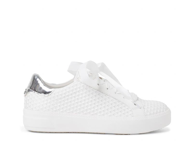 Tamaris Ribbon Trainer White Silver
