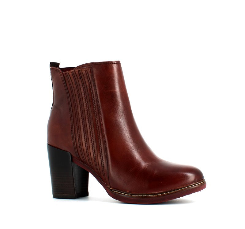 Tamaris Leather Ankle Boot Chestnut