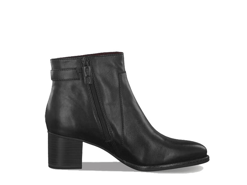 Tamaris Classic Ankle Boot Button Black