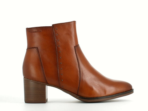 Tamaris Classic Leather Ankle Boot Nut