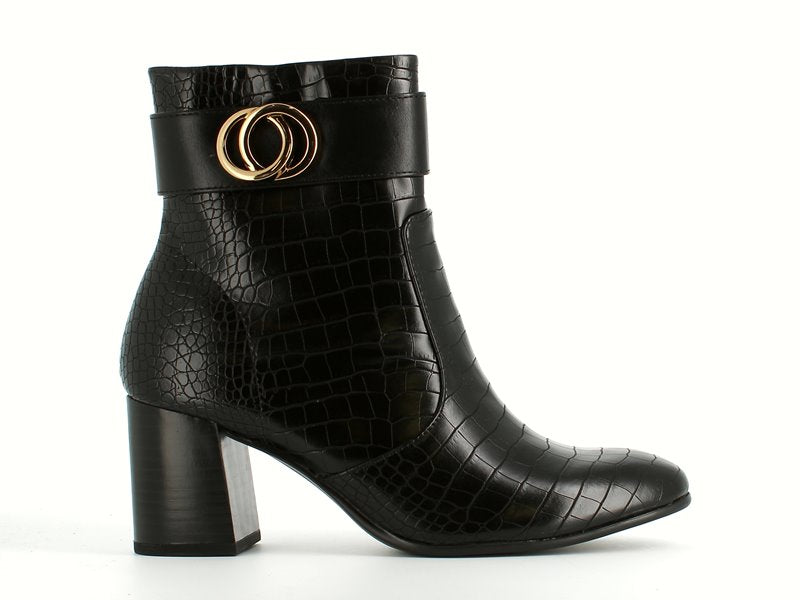 Tamaris High Ankle Boot Croco Black