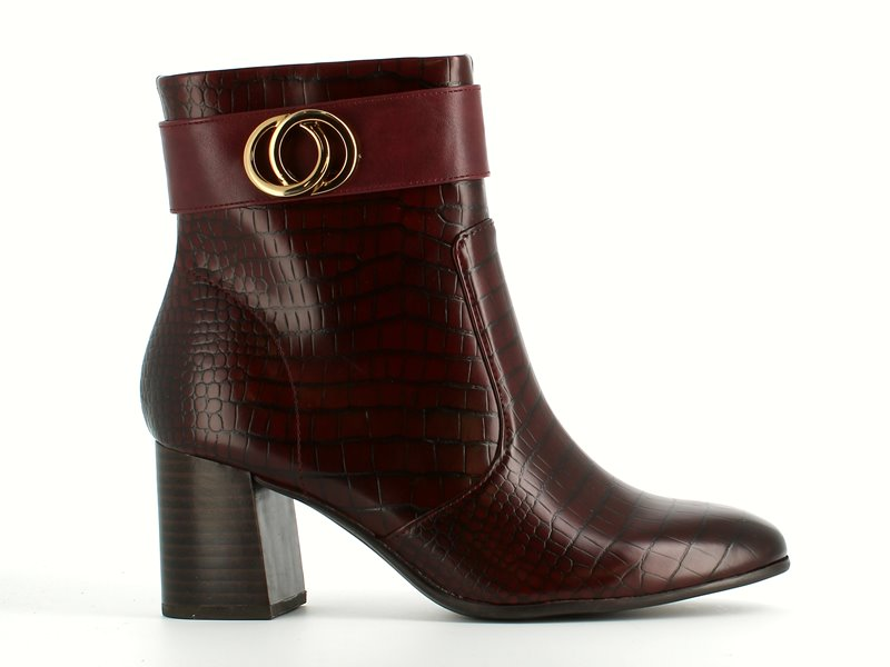Tamaris High Ankle Boot Croco Merlot