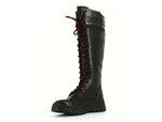 Tamaris Laced Knee High Boot Black