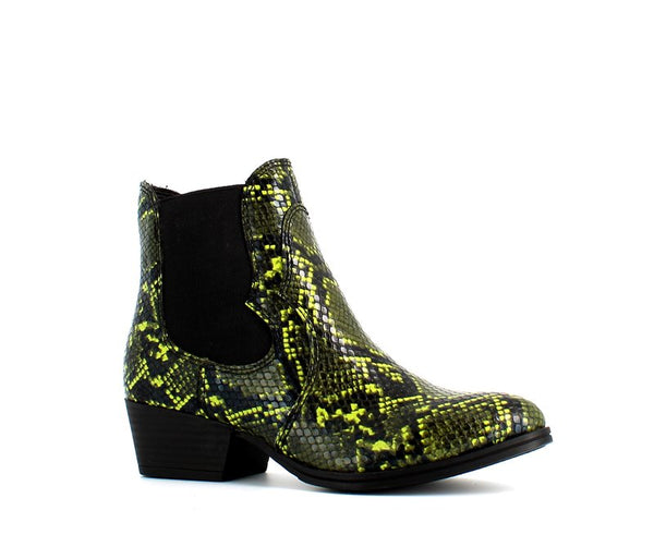Tamaris Snake Ankle Boot Green