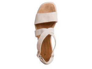 Tamaris Strappy Wedge Antelope