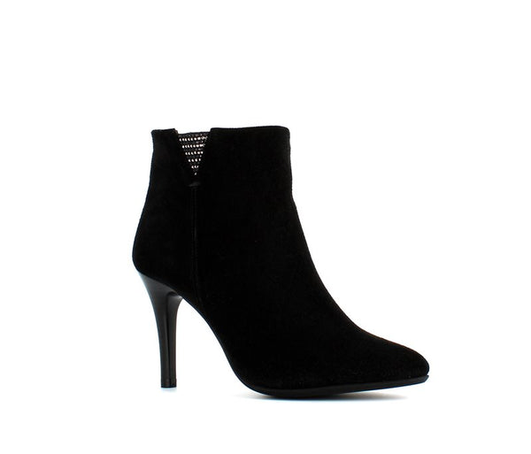Rizzoli High Heel Suede Boot Black